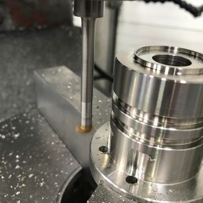 Counter Bores Being Milled On A Manual Machine